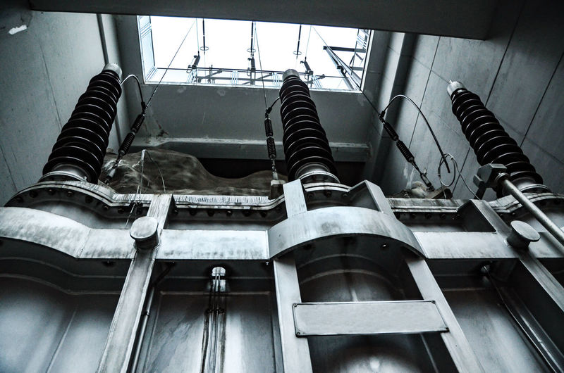 Power Station. Indoors  No People Metal Abandoned Low Angle View Old Architecture Technology Decline Damaged Run-down Factory Deterioration Industry Day Window Machinery Bad Condition Power Station Electricity  Energy Energy Industry Sunlight Machinery Environmental Issues