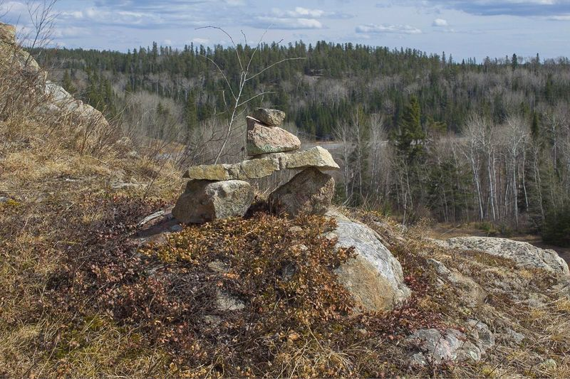 Inuksuk EyeEmNewHere EyeEm Nature Lover Art In Photography Creativity Has No Limits I LOVE PHOTOGRAPHY Canon Rebel T6 Inuit Culture Lake Of The Woods Oh Canada! True North Inuksuk Stone Nature Plant Land Tree Landscape Outdoors