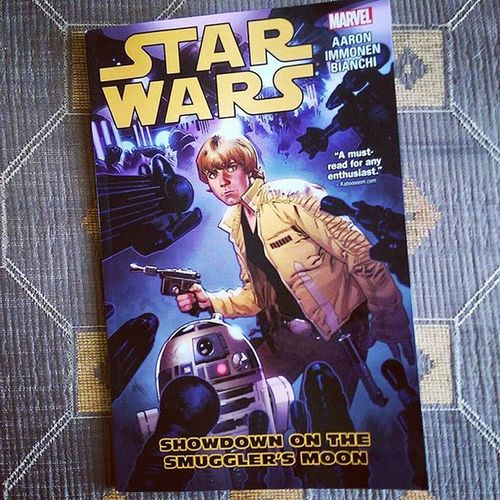 Aaron, Immonen and Bianchi are absolutely nailing this!! Brilliant second volume following on from the excellent Skywalker Strikes. Beautiful illustrations and superbly written story. These are a absolute must read for Star Wars enthusiasts. Starwars Marvel MarvelStarWars StarWarsComics Comicbooks ShowdownOnTheSmugglersMoon Lukeskywalker Hansolo Obiwankenobi R2D2 JasonAaron StuartImmonen SimoneBianchi