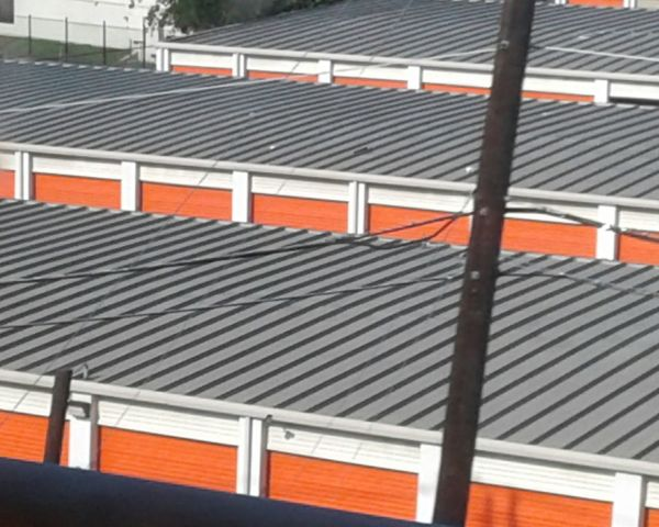 Storage Unit Rooftop Color No People Outside Outdoor Buiding Sunny Daylight Farmers Branch Texas From Train Up High
