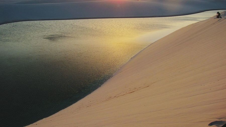 View of sand dunes at beach