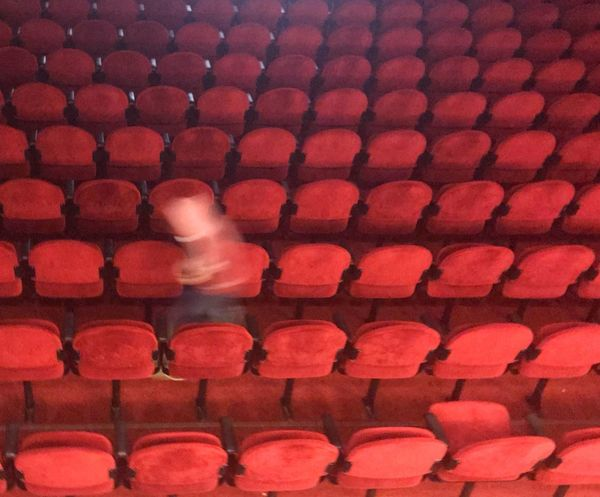 Cinema Ghost👻 On The Way Red Background Red Color Is This Seat Taken? Leasure Activity Cinema Real People Leisure Activity Indoors  One Person Day People Visual Creativity Visual Creativity #FREIHEITBERLIN Creative Space