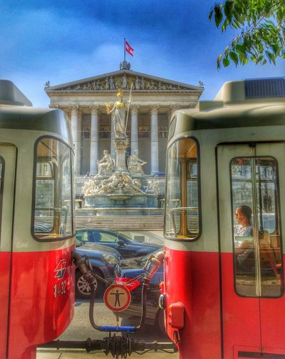 A suny day in Vienna Austria . The Parlament from Österreich. Great Architecture and Streetphotography . Nice evening. :)