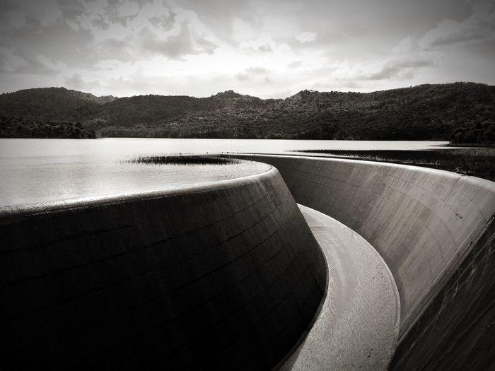 Calm Lake Against Landscape