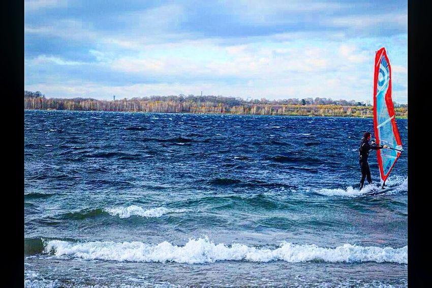 Windy | TheWeekOnEyeEM Surf #surfing #waves Sport See Lake Leipzig Windy Eyemphotography Eyemnaturelover Surf's Up