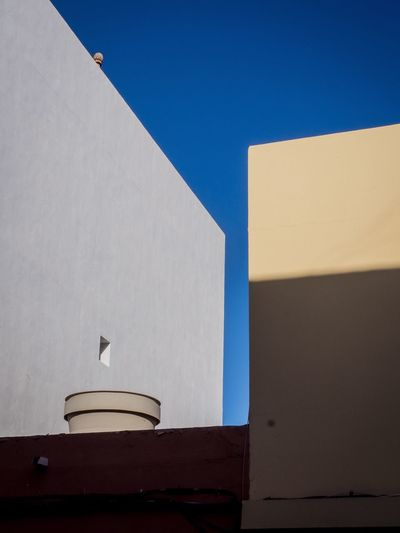 Architecture Built Structure Clear Sky Building Exterior No People Copy Space Sunlight Low Angle View Day Blue Shadow Outdoors Sky Geometry Minimal Colors Minimal Geometric Urbanminimal The Week On EyeEm Urban Blue Sky Graphic