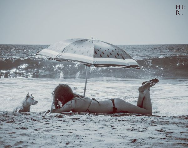 Beach Sexygirl Tanning Zicatela