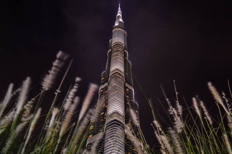 @u27364141 Dubai❤ Architecture Building Exterior Built Structure Burj Khalifa Close-up Growth Low Angle View Nature Night No People Outdoors Sky Tall - High Travel Destinations