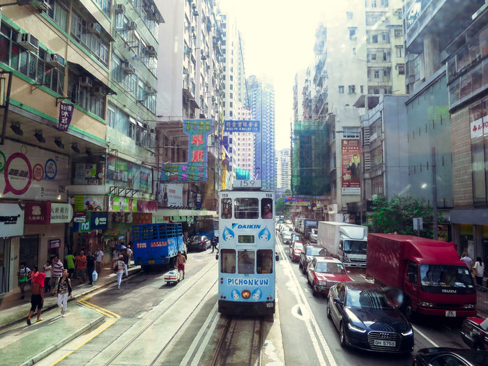 City City Life City Street Hong Kong I Love Hong Kong Mode Of Transport Perspective Street Tramway Transportation Urban