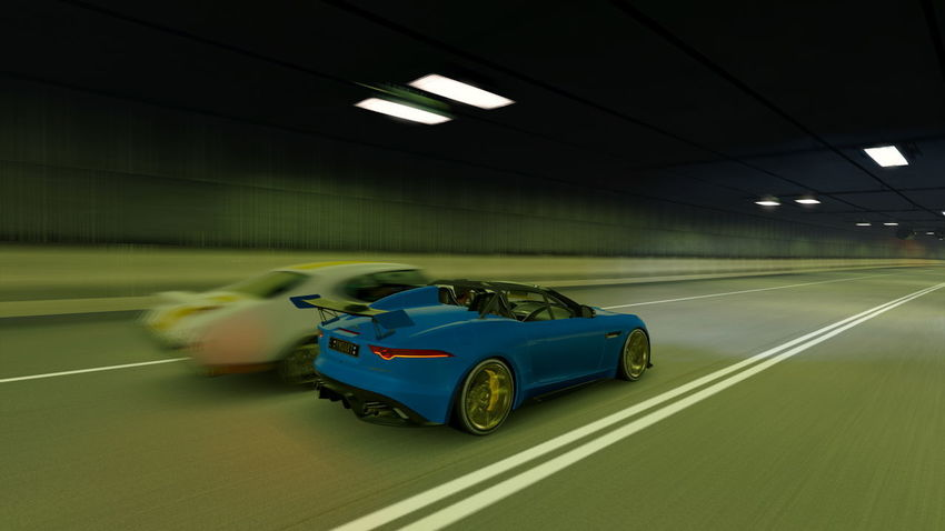 Jaguar F-Type Architecture Blurred Motion Bmw Built Structure Car City Competition Driving Illuminated Indoors  Land Vehicle Mode Of Transportation Motion Motor Vehicle on the move People Road Speed Sport Sports Car Transportation
