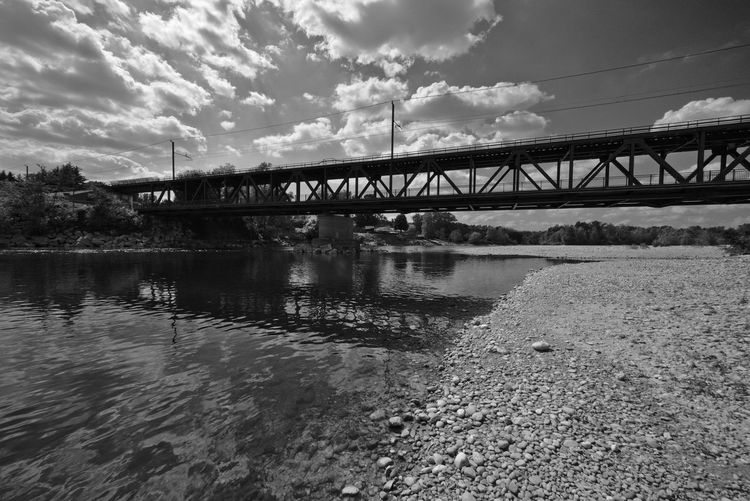 Black And White Landscape Blackandwhite Blackandwhite Photography Calm Calm Water Cloud Cloud - Sky Cloudy Day Nature No People Outdoors River Riverside Shootermag Sky Taking Photos Tranquil Scene Tranquility Water Landscape_Collection The Great Outdoors - 2016 EyeEm Awards Relaxing Italy Landscape Landscape