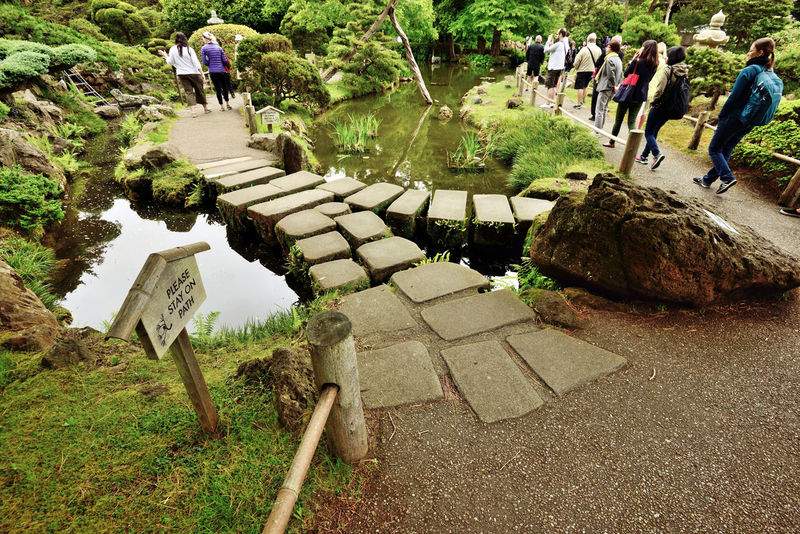 Japanese Tea Garden 5 Golden Gate Park San Francisco,ca. Oldest Public Japanese Garden In U.S. Built In 1894 For World's Fair 5 Acres Influenced By Buddist & Shinto Religious Beliefs Makoto Hagiwara Official Caretaker 1895-1925 Landscape Landscape_photography Landscape_Collection Landscape_lovers Paving Stones Walkway Pond Crossing Overpass Sculptures Water Reflections Water_collection Reflected Glory Yin-yang Water Path Water Crossing Japanese Tea Garden
