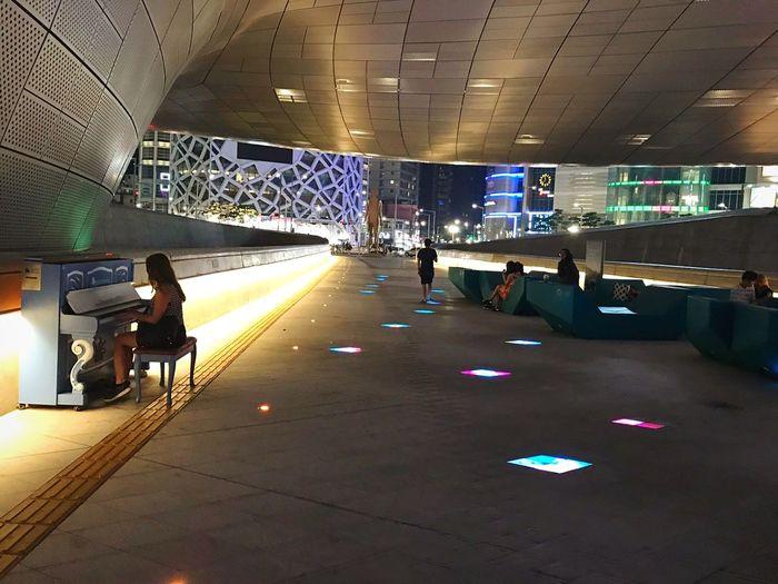 Feel Piano Korea City Cityscape Night Nightphotography Music Streetphotography Lights Light Piano Moments Streetpiano Dreaming