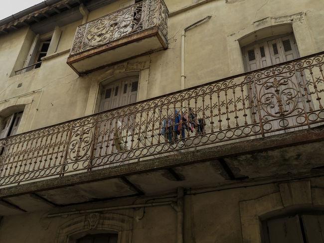 Architecture Balcony Broken Building Exterior Drying Rack Outdoors Window Window Shutters