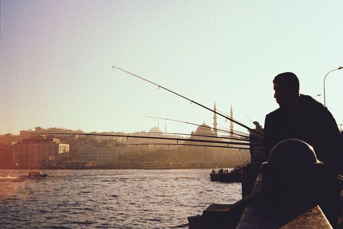 Istanbuldayasam GalataBridge Fishing Eye4photography  EyeEm Best Shots Eyeemphotography The Week Of Eyeem Analogue Photography Canonae1program UrbanSpringFever