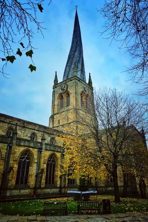 Chesterfield Crooked Spire Church Derbyshire Derbyshire Uk Autumn Muted Tones IPhoneography Iphoneonly Churches United Kingdom The Church of St Mary & All Saints, Chesterfield, famed for its crooked spire. House Of God The Architect - 2017 EyeEm Awards