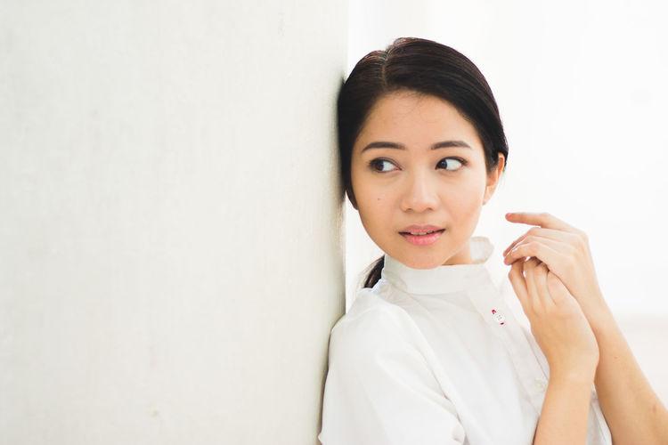 Casual Clothing Close-up Cute Front View Headshot Leisure Activity Lifestyles Person Portrait Studio Shot