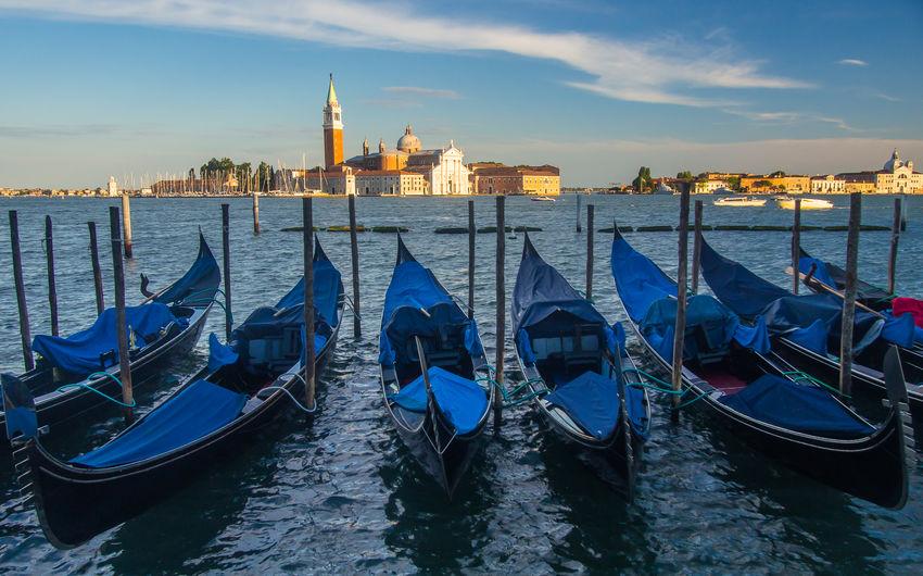 Gondola Italy Sunset Travel Destinations Venice