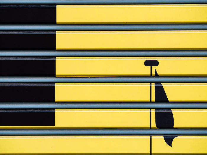 Background of metal door by spray painting with contemporary art. Modern art design, interior ideas and concept. Layer of metal sheet stacking, part of gate. Gate Lines Stack Architecture Backgrounds Built Structure Close-up Colorful Day Door Full Frame Heap In A Row Layers Level Metal Modern Art No People Outdoors Pattern Protection Striped Vibrant Color Wall - Building Feature Yellow