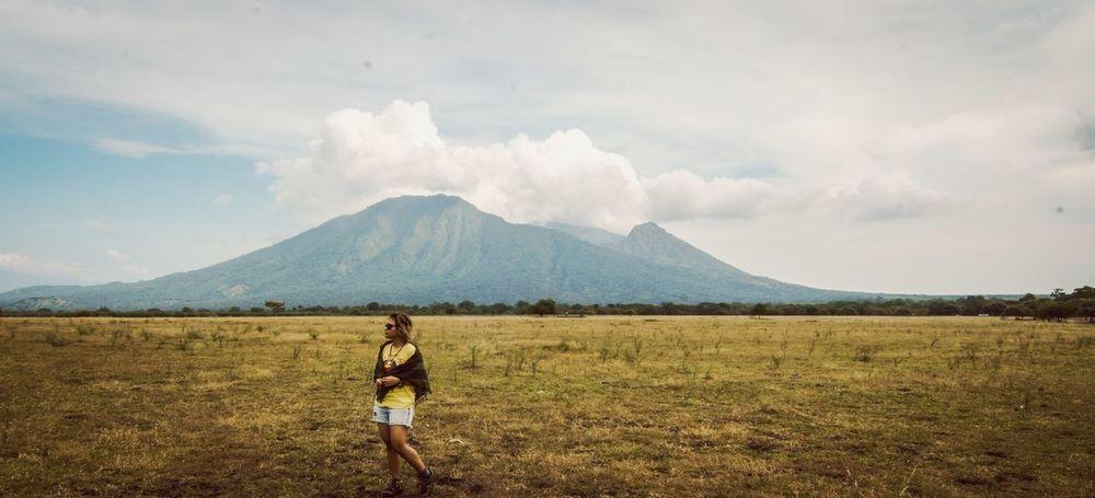 The Essence Of Summer Savana Grass Mountains