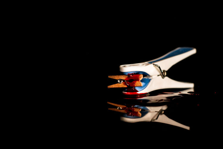 The Hunting Crime Omicide Reflection Black Background Blood Close-up Clothespin Fishes No People Predator Prey Sangue Shark Single Object Splatter Squalo Studio Shot