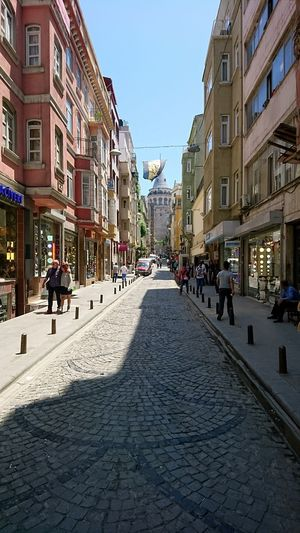 Next up, Galata tower. · Istanbul Turkey Eurasia Bosphorus Galata Galata Tower Landmarks Sightseeing Tourist Attraction  Tower Street Road Ahead Cityscape City Life Architecture Neighborhood Sunny Day 🌞 Sunny Capitals  Urban Exploration