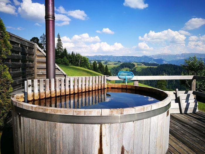 Water Storage Tank Against Sky