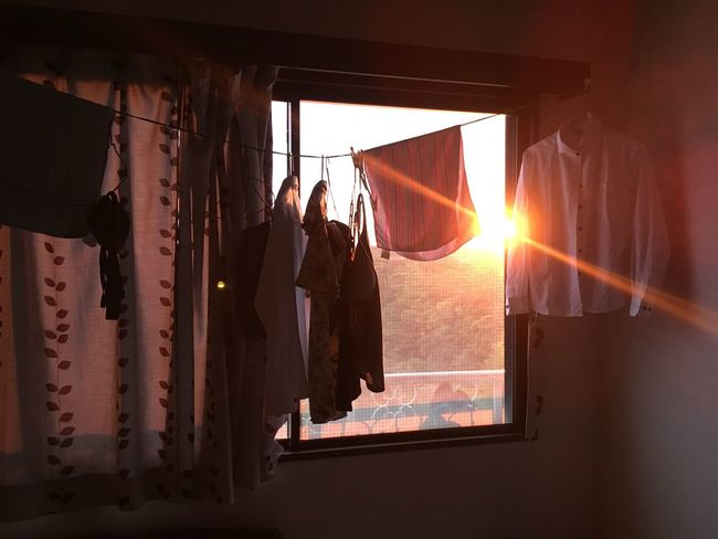 Normal Life Evening Sun Room Shirt Blouse Clothes Laundry Noeffect Beautiful Japan IPhoneography The Scenery That Tom Saw Tomの見た世界 三重県 Island Life