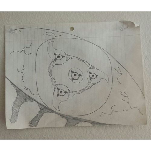My drawing from back in 8th grade TBT  8thGrade Jones Bluejays naruto sharingan bloodyeye