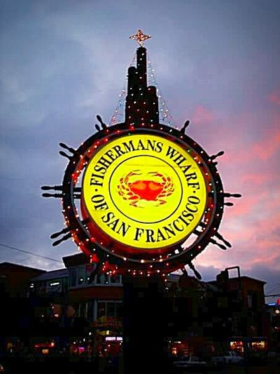 My Photography My Point Of View This Week On Eyeem San Francisco Fishermans Wharf Fisherman's Wharf San Francisco Tourist Attraction  Holiday Lights