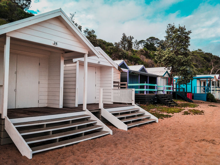 Mount Martha on the mornington peninsula Morning Sky Morning Light Beach Photography Beachphotography Beauty In Nature Beach Ocean Turquoise Coastline Beachbox Beach Boxes Boat Sheds Boat Shed Bathing Boxes Business Finance And Industry Day No People Outdoors Architecture Sky