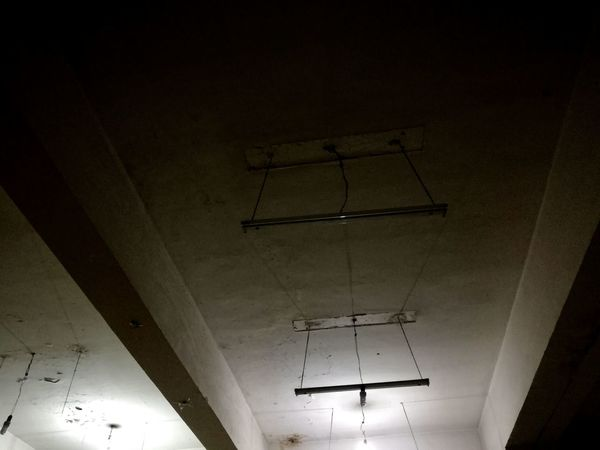 Cielinglamp Cieling Light. Alone No People Neon Lights Neons Darkness And Light Old