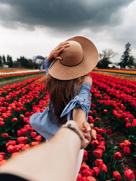 Lead me. Hat Plant Flowering Plant Flower Sky One Person Nature Cloud - Sky Growth Freshness Real People Beauty In Nature Clothing Vulnerability  Red Women Field Lifestyles Day Land Summer Exploratorium