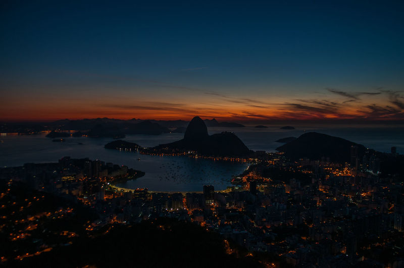 sunrise in rio took from the christ Check This Out EyeEm Best Shots Popular Photos Pão De Açucar Rio De Janeiro Stunning Beauty In Nature Cityscape Nature No People Scenics - Nature Sea Sky Sunrise The Great Outdoors - 2018 EyeEm Awards Summer Road Tripping