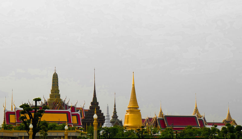 "Grand temple Grand palace ""Rattanakosin Era"" Religion Pagoda Architecture Tourism Travel Destinations Ancient Travel Landscape Spirituality Business Finance And Industry Arts Culture And Entertainment Outdoors Forest No People Urban Skyline Sky Nature City Day Bhumibol 💛👑 Mass Tourism Grandpalacebangkok Bangkok King Bhumibol Adulyadej"