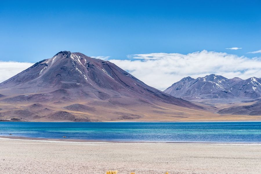 laguna Miscanti, altiplanic lagoon, Chile Altiplanic Lagoons Altiplano Altitude Andean Blue Cerro Childhood Colors Day Lagoon Laguna Miscanti Laguna Miscanti.... Un Paraiso Lake Landscape Miscanti Miscanti Lake Mountain Nature No People Outdoors Scenics Sky Snow Water
