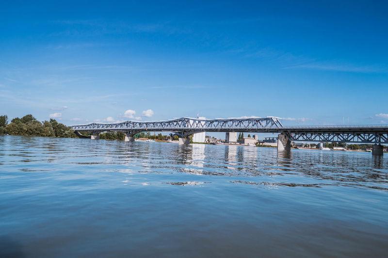 Metallic bridge over danube river