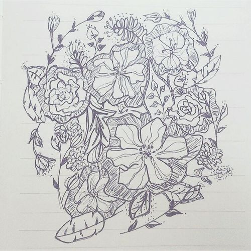 Flower Drawing Flower Doodle