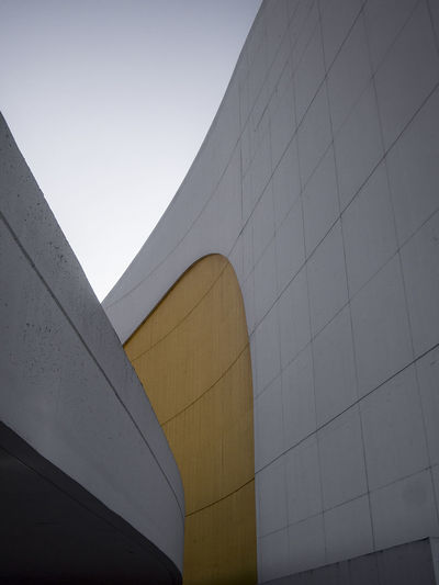Architectural Feature Architecture Avilés Building Built Structure Capital Cities  Centro Niemeyer City City Life Curves Day Exterior Low Angle View Minimal Minimalobsession Modern No People Outdoors Part Of Sky Tall - High Niemeyer Center Yellow
