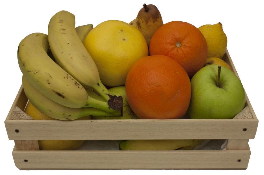 Apple - Fruit Banana Food Food And Drink Freshness Fruit Fruit Composition Healthy Eating Lemon Mix Fruits No People Orange Orange - Fruit Stile Life Photo Wood Box