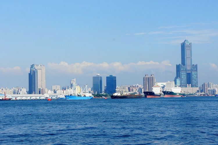 View of Kaohsiung from the harbor. EyeEm Taiwan Gettylicious Good View Stockphoto Taiwan Kaohsiung Urbanscape Cityscape Kaohsiung Taiwan Tall Buildings Newstrekker City View  City Harbour Harbor Harbour View Ships Taiwanese Travel