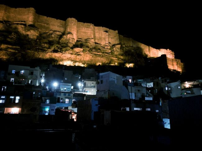 Mehrangarh Fort Night Architecture Mobile Photography Oneplusone3T