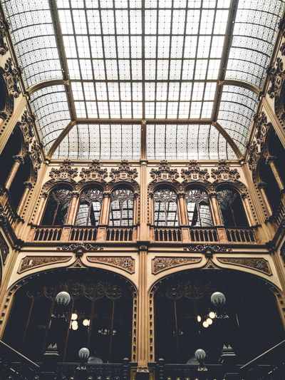The hours. Architecture Built Structure Ceiling Day History Indoors  Low Angle View No People Window