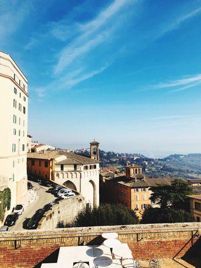 Travel Destinations Perugia Perugia Italy Built Structure Sky Architecture Building Exterior Nature Day Cloud - Sky City Building Blue Sunlight Travel