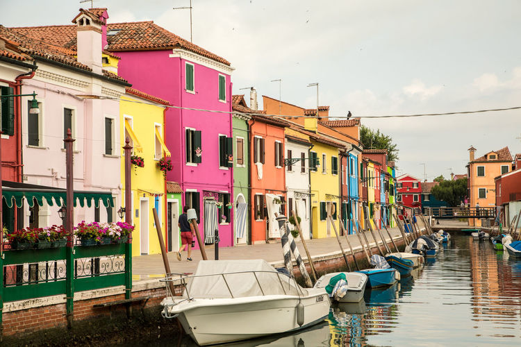 A Day in Burano Architecture Canal Boats Colourful Buildings Fishing Village Nautical Vessel Outdoors Travel Destinations Travel Photography Water