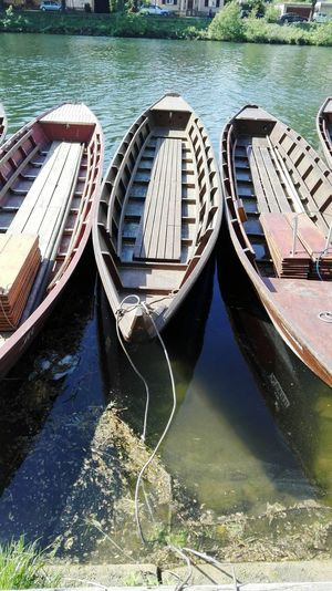 Wooden Boat Wooden Tübingen Neckar Germany Leisure Activity Rope Water Nautical Vessel Moored High Angle View Boat Port Waterfront Water Vehicle River Riverbank Gondola Moving Harbor Dock Rippled