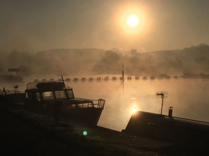 No post production, just an atmospheric early morning walk at Beeston Marina, Nottingham. Sun Nautical Vessel Sunbeam Water Lens Flare Mode Of Transport Transportation Boat Sunlight Outdoors Nature Sky Sunset Moored Silhouette Beauty In Nature Sailing Day