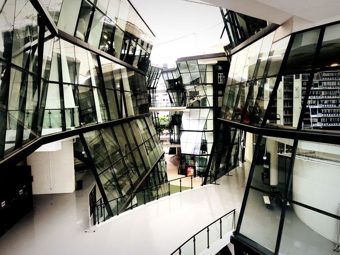 Built Structure Architecture Building Exterior Building Railing No People Glass - Material Outdoors Sunlight