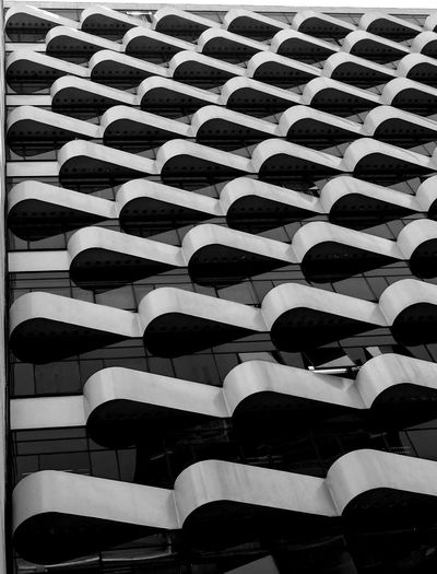 Waves The Architect - 2019 EyeEm Awards Full Frame Backgrounds Pattern No People In A Row Repetition The Minimalist - 2019 EyeEm Awards High Angle View Large Group Of Objects Seat Close-up Order Sunlight Day White Color Architecture Abundance Indoors  Nature Conformity