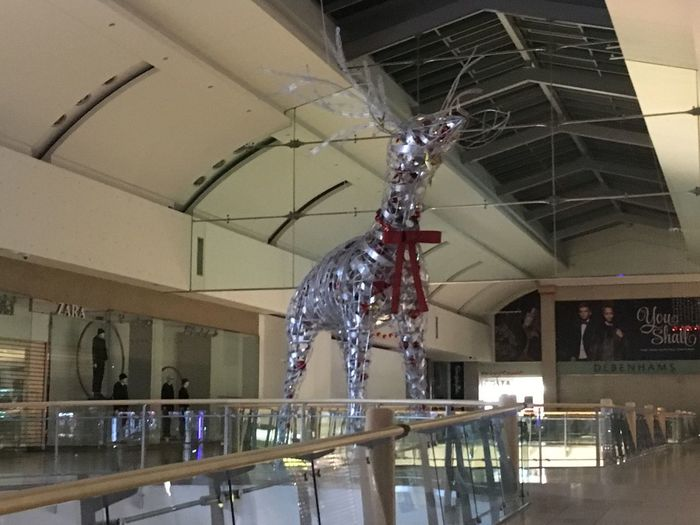 Christmas Decoration Reindeer Metal Indoors  No People Christmas Ornament Top Team At Work Metro Centre Electric Light MK Illuminations